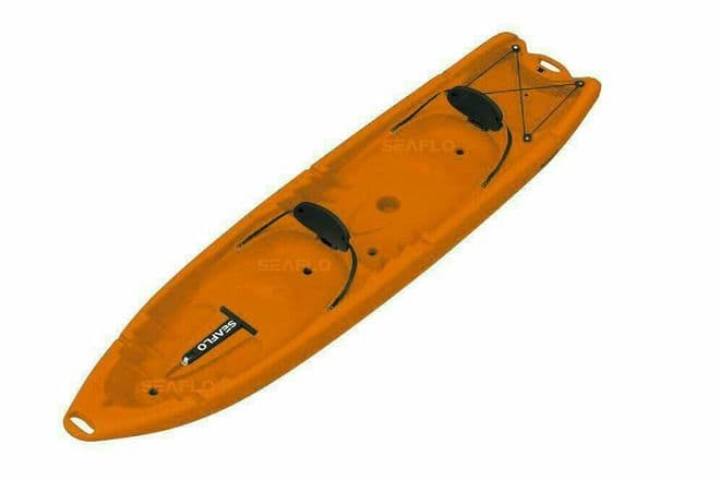 SIT ON TOP FAMILY KAYAK 2 ADULTS + 2 CHILDREN (SF-4001) ORANGE canoe COLLECT